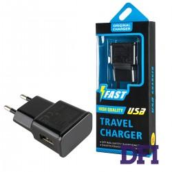Зарядное устройство Samsung galaxy S U90E USB 2.0A , черный + microUSB кабель