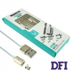 Кабель магнитный DM-M12 для Lightning для iPhone 5 / 5s / 6 / 6 Plus , iPad Air 2 , gold/white (магнитный)