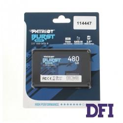 Жесткий диск 2.5 SSD  480Gb Patriot Burst Elite Series, PBE480GS25SSDR, 3D QLC, SATA-III 6Gb/s, зап/чт. - 320/450мб/с