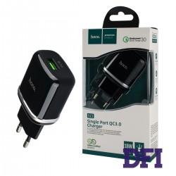 Зарядное устройство Hoco N3, 1USB, черный, QC3.0 + кабель Type-C