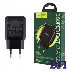 Зарядное устройство Hoco N5, 1USB, черный, PD20W+QC3.0