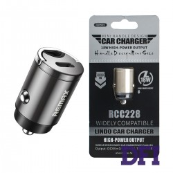 Автомобильное зарядное устройство REMAX RCC-228, PD18w, сталь, QC 3.0